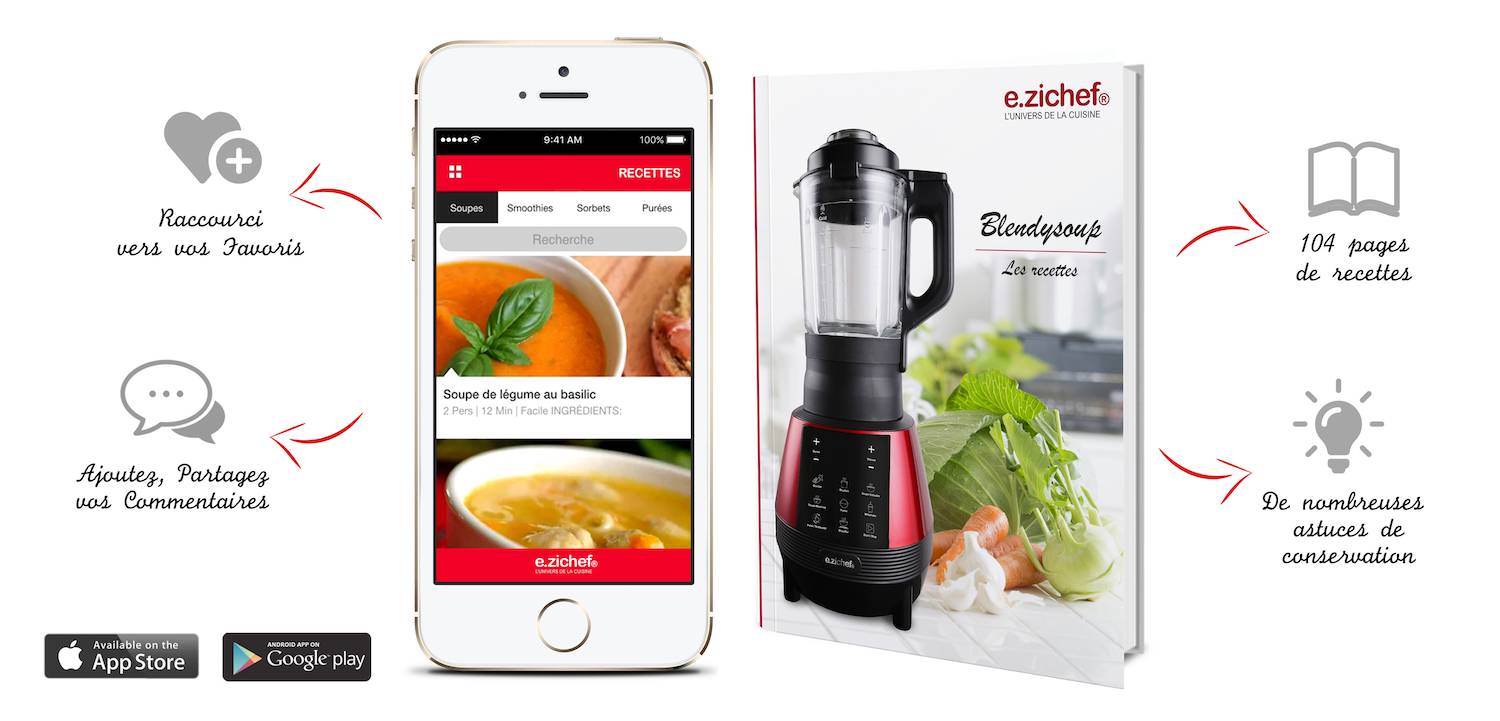 Application Smartphone Iphone Android robot soupmaker
