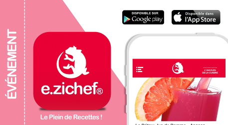 Application e.zichef robot cuisine